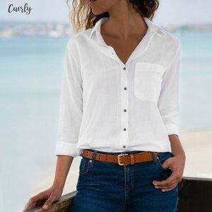 Women Tops Blouses 2020 Long Sleeve Turn Down Collar Office White Blouse Shirt Female Work Wear Shirts Blouse Plus Size Blusas