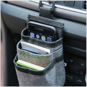 vent Power Bank storage car mobile phone charging treasure certificate and other storage bag with data cable hole car hanging bag