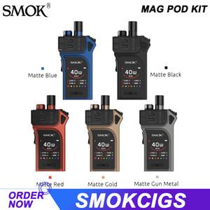 """SMOK Mag Pod Kit 40W Output Mod Built-in 1300mAh batteria 1.3"""" dello schermo con 3ml RPM Pod Visibile-Liquid Cartridge RPM bobina Vape Authentic"""