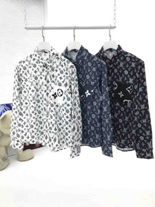 2020 high-end new long-sleeved lapel men's shirt S-3XL