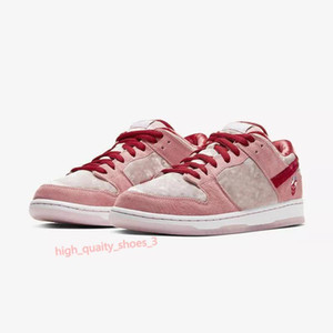 xshfbcl SB Dunk x StrangeLove Low Chaussures Mens PINK Running Shoes Valentine's Day Sport Trainers Sneakers For Women