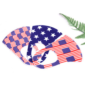 In stock USA Flag masks Reusable Washable Cloth Face Mask Individual Package Designer Masks Kids Masks DHL Free shipping