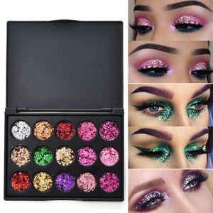 CmaaDu 15 Color Studio Shimmer Glitter Eyeshadow Powder Palette Matte Eyeshadow Cosmetic Makeup Pigment Palette