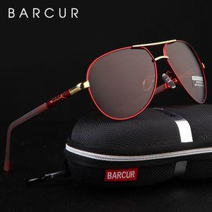BARCUR Original Men óculos polarizados óculos driver Polaroid Sun óculos masculino piloto Eyewear