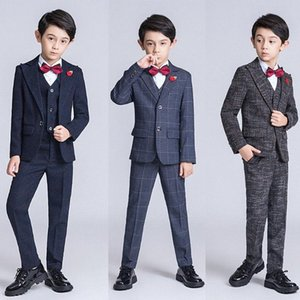 YuanLu 6PCS Kids Suit Blazer Formal Boys Suits For Wedding Party Costume British Style Children Clothes Autumn EoVy#