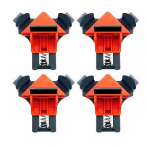 4 개 목공 90도 직각 클램프 클립 빠른 액자 코너 클램프