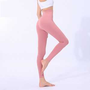 Yogaworld Йога высокой талией Колготки Женщины Фитнес Бег Йога Брюки Stretch Тонкий Пот-абсорбент Быстросохнущий штаны yogaworld