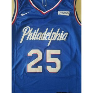 Cheap 368 Basketball Jerseys Simmons #25 Blue S-xxl Top Stitched Jersey