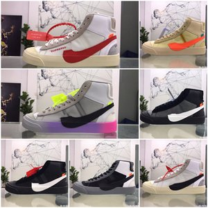 2020 High Quality Orange Black Blazers MID Grim Reepers running shoes Stripe Cavans THE TEN PRESTRO basketball shoes