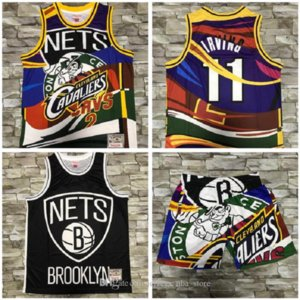 2020 men basketball New BrooklynNets11 Irving Mitchell&ness European dyed retro jersey and pant 07