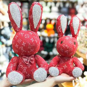 38cm de grande taille douce poupée lapin mignon poupée Jouets strass Tissu Décoration Coton Ornement Doll