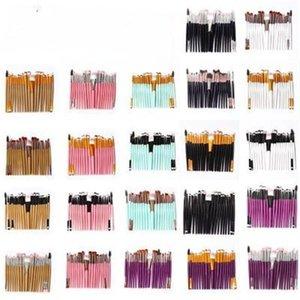 Make Up Brush Set Cils visage bouche Brosses Svelte Poteaux en bois poignée en plastique Maquillage Accessoires Livraison gratuite 6 8AS B2