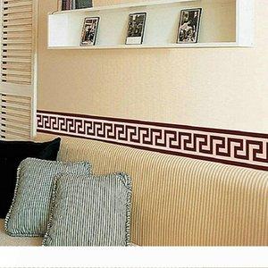 Mur frontière Liner Wall Sticker Décor Mural bricolage Décoration Art Mural Vérifiez Papier peint Décor Salon Décoration