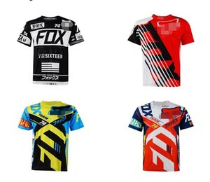 Nueva FOX encargo de secado rápido camisetas de secado rápido al aire libre de ropa de ciclismo hombres y mujeres tops de manga corta