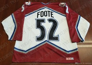 Cheap custom Adam Foote Vintage Colorado Avalanche CCM Jersey Stitched Retro Hockey Jersey XS-5XL