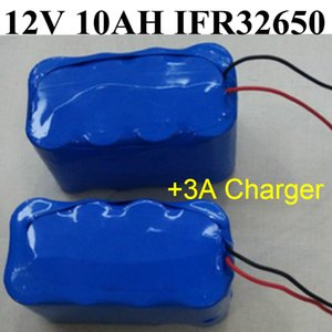 Llifepo4 12V 10Ah battery 10AH IFR32650 4S2P 12.8V bateria+3A Charger for LED Flash lawn Hernia lamp Monitor Sprayer Car washer