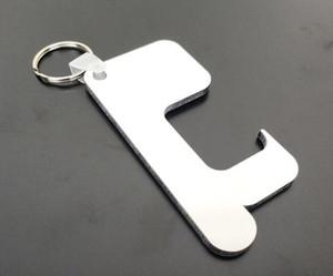 파티 호의를위한 10PCS 승화 빈의 MDF 나무 열쇠 고리 열전 사 인쇄 디자인 사진 개성 광고의 정의