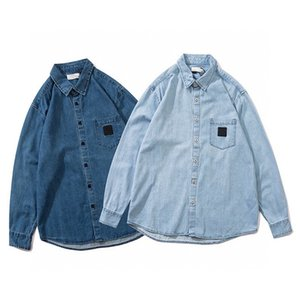 Fashion tag embroidered mens designer jacket tide fall denim jackets for men new casual jean shirt male label