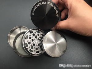 Gunmetal Metal CNC Tobacco Herb Crusher Grinder 40 milímetros 63 milímetros 4layer moedor de tabaco Tabaco Herb CROMO CRUSHER para fumar erva seca