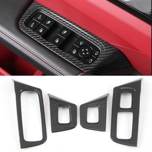 포르쉐 카이엔 2018-2020에 대한 자동차 액세서리 윈도우 리프트 제어 패널의 버튼 프레임 트림 스티커 커버 인테리어
