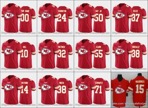 KansasCiudadjefesMen # 15 Patrick Mahomes 32 Tyrann Mathieu 87 Kelce personalizada Mujeres JóvenesEquipo rojo grande de la NFLlogo Jersey