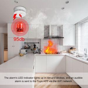Inteligente WiFi Smoke Detector sem fio do alarme de incêndio Alerta Sensor Smoke Alarm dispositivo sistema de segurança Home