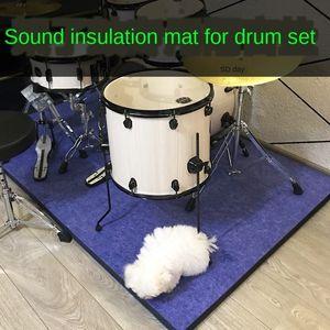 QjBxl set sound insulation anti-skid muffler household thickened electronic drum Roller carpet Electronic carpet shock pad drum mat floor m