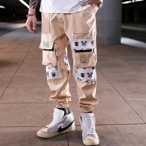 Side uomo tasche cargo Harem Pants Hip Hop Casual Male Tatical jogging pantaloni di modo Pantaloni Streetwear