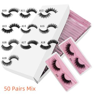 New 3d mink false eyelashes A style fake lashes natural long makeup lash extension in bulk pink background DHL free