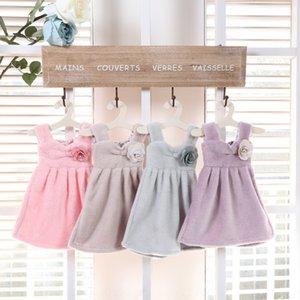 Children's absorbent hanging Princess skirt thickened towel kitchen towel cute bathroom princess dress small handkerchief Korea