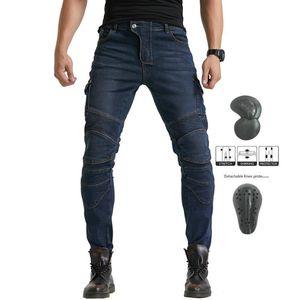 Calças Moto Anti-queda Motocross Calças Moto Pantalon motociclista Jean Moto Calças com proteção CE para mulheres dos homens