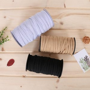 In Stock 0.12Inch Width Braided Elastic Band Cord Knit Band for Sewing DIY Mask Bedspread Elastic A08
