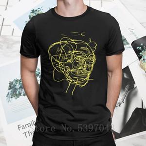 Jean Michel Basquiat Paintings T Shirts Men Pure 100% Cotton T-Shirts Clothes Fruitmarket Gallery Tees Hipster Crewneck