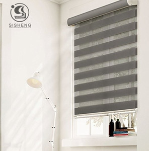 Canada and America style plain color light filtering zebra blinds T200718