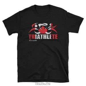 CANADÁ Canadian Flag Triathlon Triathlete Camiseta - Canadian Triathlon Triathlete Diseño - APARIENCIA VINTAGE camiseta unisex