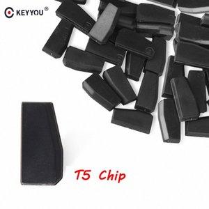 KEYYOU 5x 10x 20x 50x T5 20 Transponder Chip em branco carbono T5 Cloneable Chip Para Car Auto Key Cemamic chave do carro T5 New awSe #