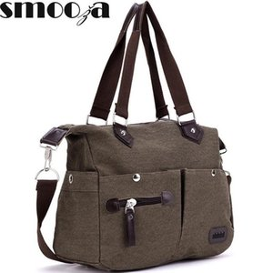 SMOOZA Denim Canvas women bag cowboy hippie street style fashion lady lazy pillow bags Vintage School Shoulder Messenger bag