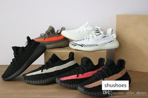Designer sneakers Black Red White semi frozen Copper Newest Zebra Butter Sesame Static men Women trainers kanye west Running Shoes