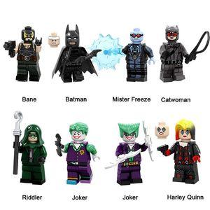 DC 슈퍼 히어로 빌딩 블록 베인 배트맨 미스터 프리즈 캣우먼 들러 조커 할리 퀸 미니 액션 피겨 장난감