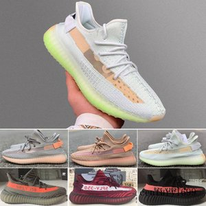 V2 Glow Lundmark Non-Reflective Running Shoes Kanye West Men Women Black Static Antlia Triple White Synth Sport Sneaker 5-13 UR2CN