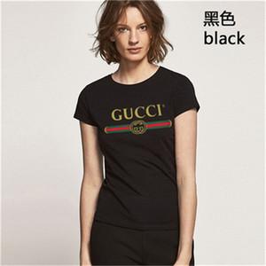 mangas curtas G designer de moda de luxo de t para mulheres Gucci verão Magro camisa Gucci respirável Tee Gucci