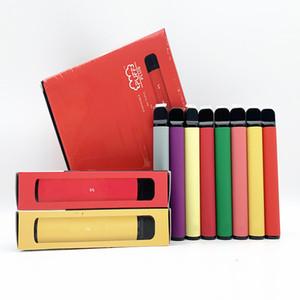 퍼프 플러스 일회용 장치 포드 스타터 키트 800 + 퍼프 550mAh 배터리 3.2ml 카트리지 Vape 빈 펜 PK 퍼프 막대 광선 puffplus