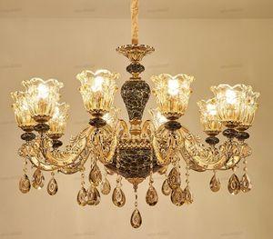 Европейский Гостиная Люстры Атмосфера Главная Керамические висячие лампы зал Ресторан Простые Свет Hotel Crystal Люстры LLFA
