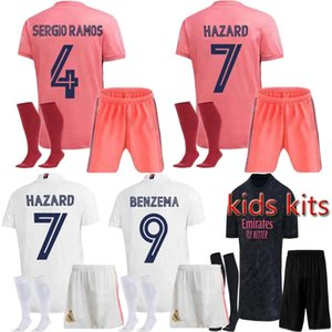 20 21 crianças + Sock de futebol do Real Madrid jerseys PERIGO Kroos BENZEMA ISCO camiseta 2020 camisa de futebol 2021 VINICIUS ASENSIO crianças Versão especial