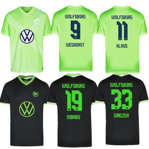 20 21 VLL Wolfsburg Soccer Jersey Wehorst Arnold Home Malli Brekalo Mehmedi Ginczek Guilavogui Xaver Steffen Chemise de football Uniforme
