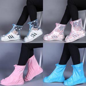 Rain Boot Overshoes Non Disposable Rain Shoes Cover Waterproof Kids Antiskid Rain Snow Boots Wear 4 Colors