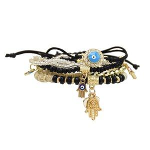 New style fashion Bohemian multilayer element beaded bracelet set Jewelry Gift