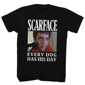 스카 페이스 갱스터 영화 모든 개는 캐주얼 보이 T 셔츠가 할인 톱 티 탑 HIS DAY 성인 T 셔츠 새로운 도착 남성 티가