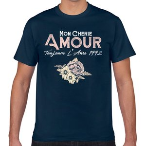 Tops T Shirt Men flowers mon cherie amour toujours lame 1992 Sexy Harajuku Geek Print Male Tshirt XXX