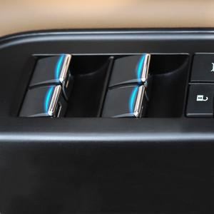 Elevación Car Styling ventana botones de cristal de las lentejuelas Decoración ajuste de la cubierta Calcomanías para Lexus ES200 260 300h 2018-2020